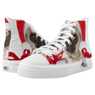 Pug gifts - dog claus - funny pugs - funny dogs High-Top sneakers
