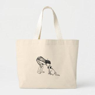 Pug Kisses Large Tote Bag