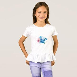 Pug Love Girls Ruffle T-shirt