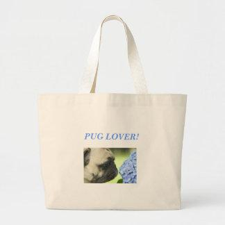 PUG LOVER! LARGE TOTE BAG