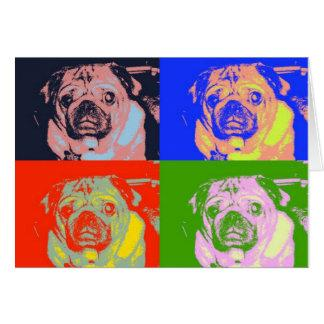 Pug PopArt Note Cards