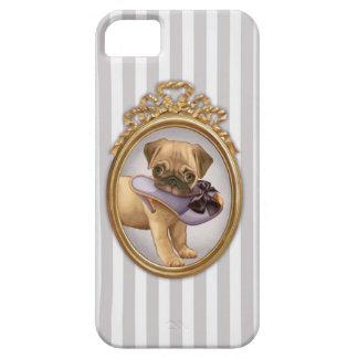 Pug Puppy and Shoe iPhone SE/5/5s Case