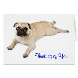 Pug Thinking of You Card Verse inside