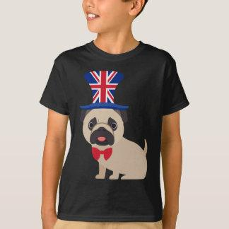 Pug Wearing UK Flag Hat - Customize T-Shirt
