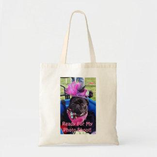 "Puggy ""Ready for Photo Shoot"" Tote Bag"