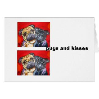 pugs and kisses card