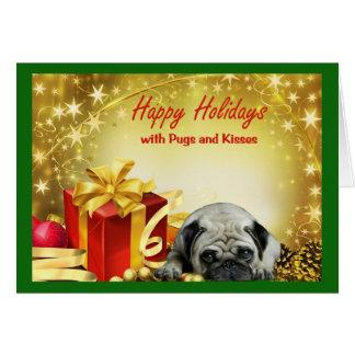 Pugs and Kisses Christmas Card Gifts