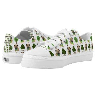 pugs and spring trees 2 Low-Top sneakers