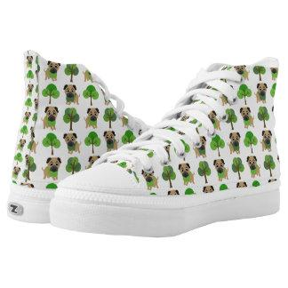 pugs and spring trees High-Top sneakers