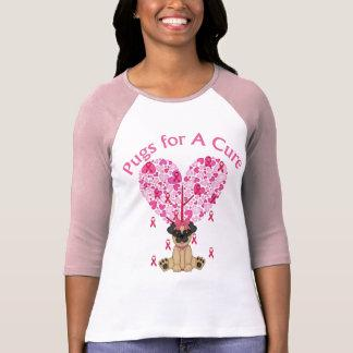 Pugs for A Cure Breast Cancer Pugs 2 T-Shirt