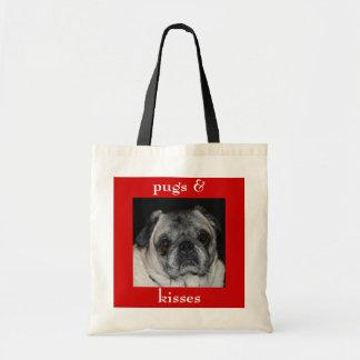 Pugs & Kisses Budget Tote Bag
