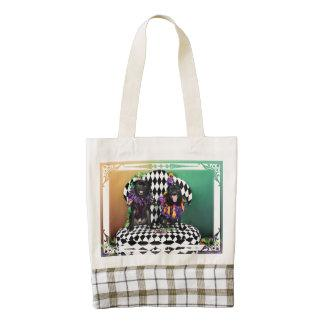 Pugsgiving Mardi Gras 2015 - Dipity & Louie - Pugs Zazzle HEART Tote Bag