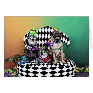 Pugsgiving Mardi Gras 2015 - Wendy Madison Nelson Card