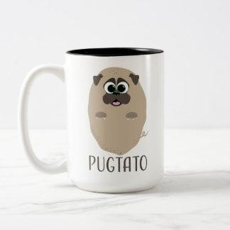 Pugtato! Two-Tone Coffee Mug