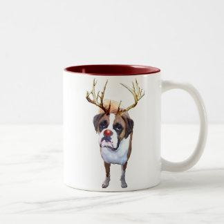 Red Nose Boxer Two-Tone Coffee Mug