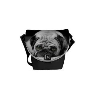 Sad Pug Messenger Bag
