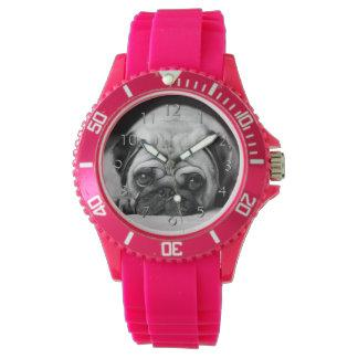 Sad Pug Wrist Watches