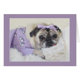 Sleeping Princess Pug Card by Pugs and Kisses
