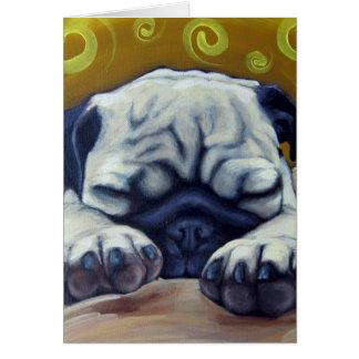 Sleepy Pug Card
