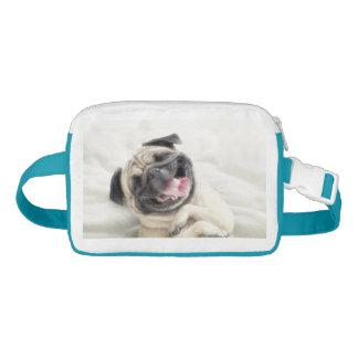 Smiling pug.Funny pug Fanny Pack