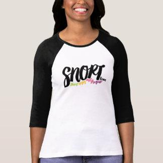 SNORT simple logo baseball tee