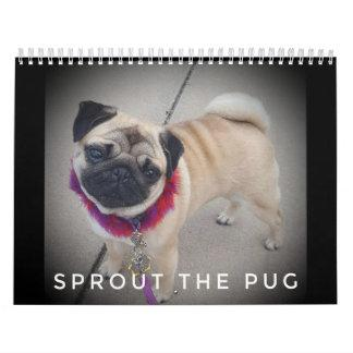 Sprout The Pug Calendar 2019