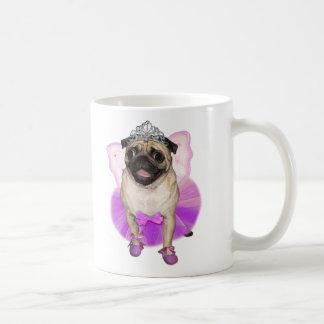 sugarplum fairy pug princess coffee mug