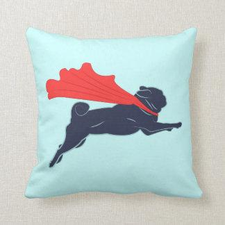 Super Pug Throw Pillow