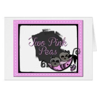 Two Pink Pea's Note Card