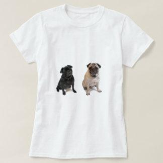 Two pugs one beige one black T-Shirt