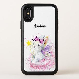Watercolor Fairy Bunny OtterBox Symmetry iPhone X Case