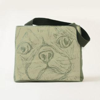 Yellow Pug Canvas Utility Tote